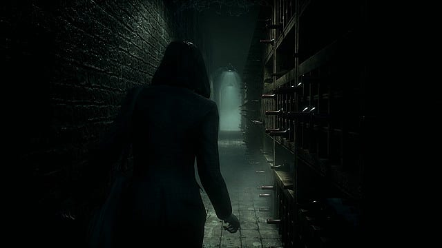 Reed creeps through the wine cellar in Remothered