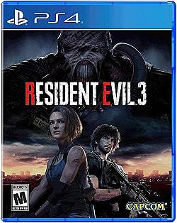 Resident Evil 3 remake PlayStation 4 box art.