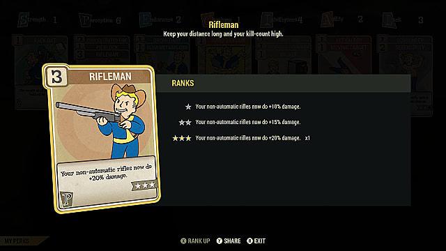 fallout 76 rifleman perk card
