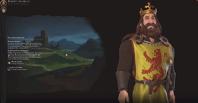 Robert the Bruce stands tall in Civ 6