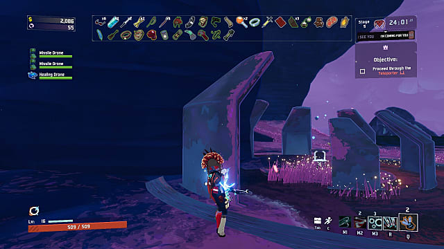 RoR2 Primordial Teleporter clipped into wall.