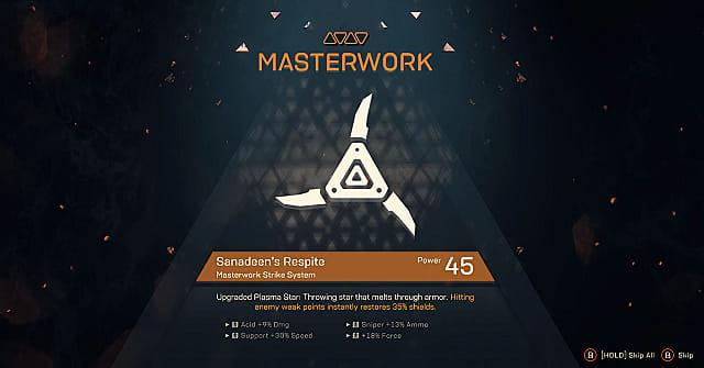 anthem masterwork plasma star