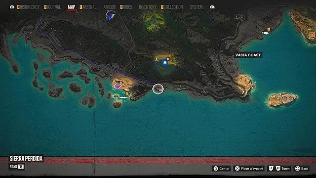 Sanguinario pelt map location.