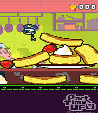 a jumbled stack of yellow-ish pancakes in Part Time UFO