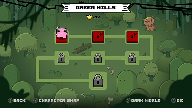 Super Meat Boy Forever map