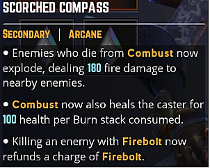 Scorched compass ability card