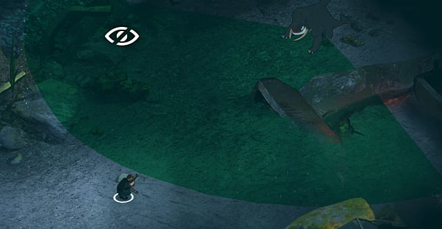 Crouching into stealth mode in Fear Effect Sedna