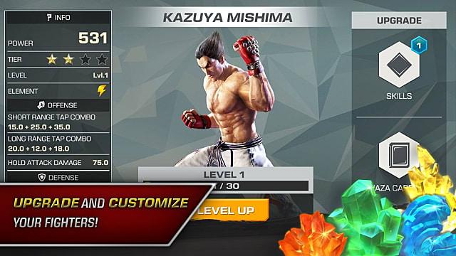 Kazuya Mishima character card in Tekken Mobile