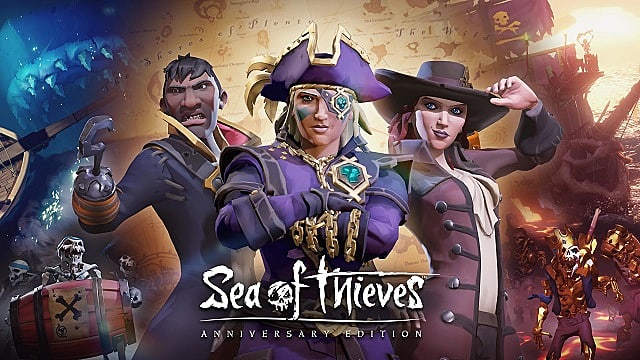 Sea of Thieves anniversary update cover art teasing the arena and more.