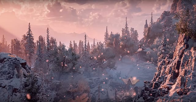 Horizon: Zero Dawn, mountains, snow