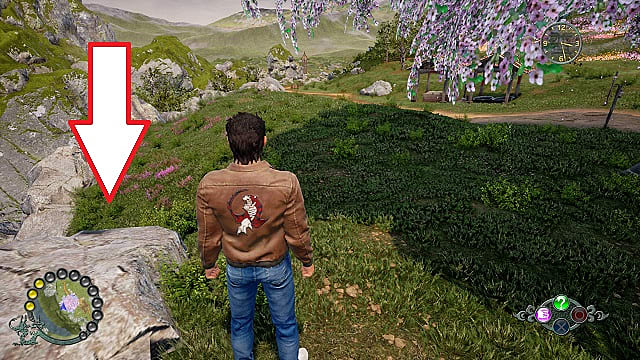 Shenmue 3 hidden fast travel trigger location near Shenhua's house.