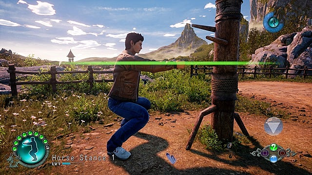 Shenmue 3 training endurance with horse stance.