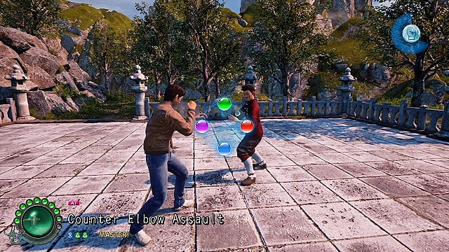 Shenmue 3 training attack with sparring.