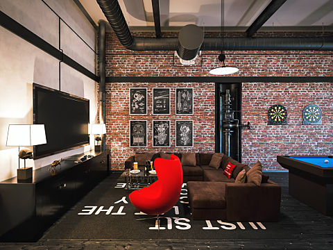 room game garage into cave wall games decorating gaming interior storage bedroom turning space awesome boys turn diy living ultimate