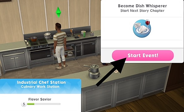 Working a culinary career in the Sims mobile