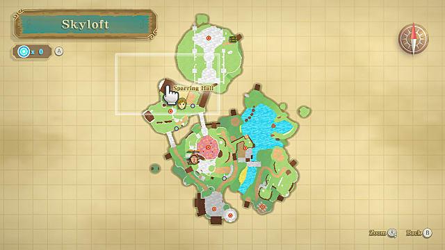 Skyward Sword skyloft map.