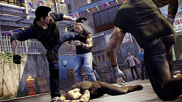 Sleeping Dogs, Combat, Fighting, Kick