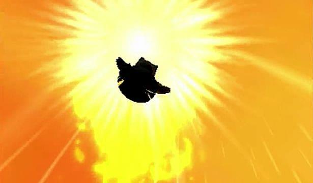 Snorlax silhouette against the sun.