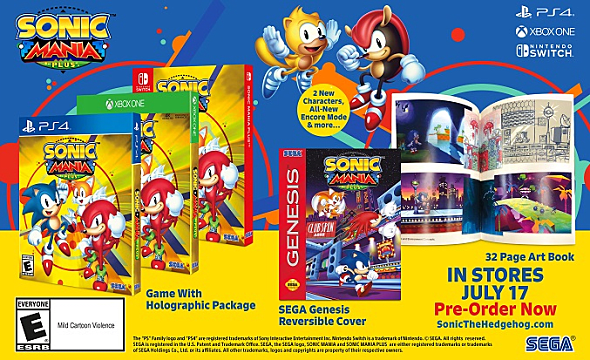 Sonic Mania Plus packaging for all consoles