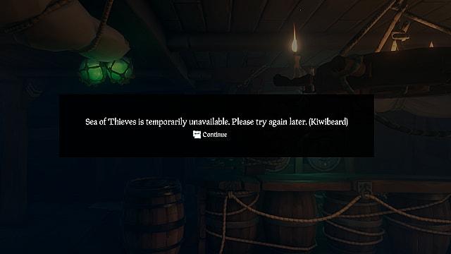 Sea of Thieves KiwiBeard error