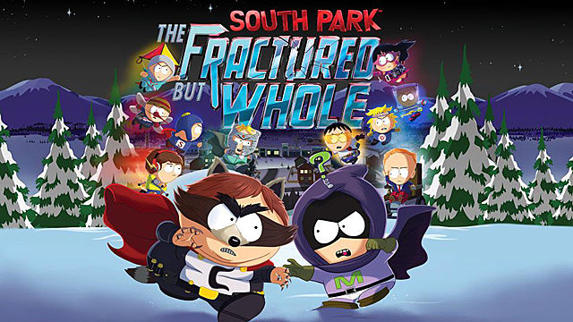 south park fractured but whole black screen menu