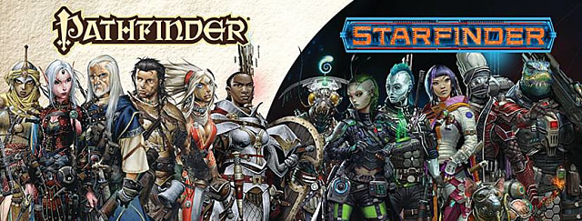 Characters from both Pathfinder and Starfinder