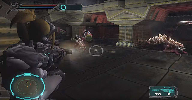 A screenshot of the leaked Blizzard third-person shooter, Starcraft Ghost