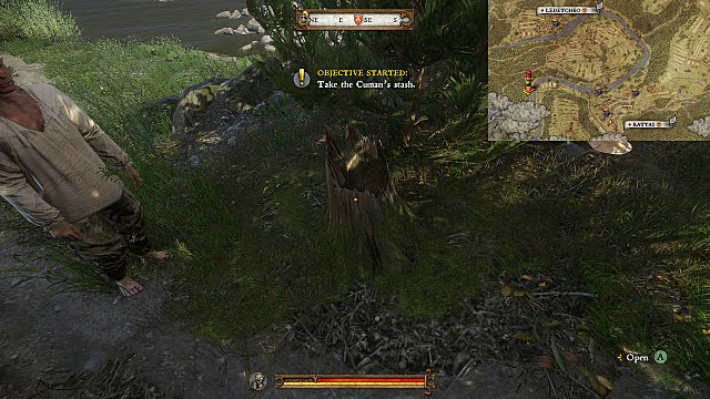 Kingdom Come Deliverance Lost in Translation's quest asks you to find this stash inside a tree stump
