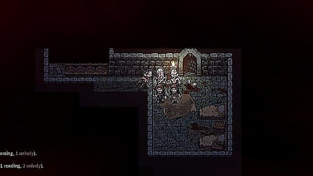 Enemies, like the zombies in this dungeon, will quickly surround you in Stoneshard