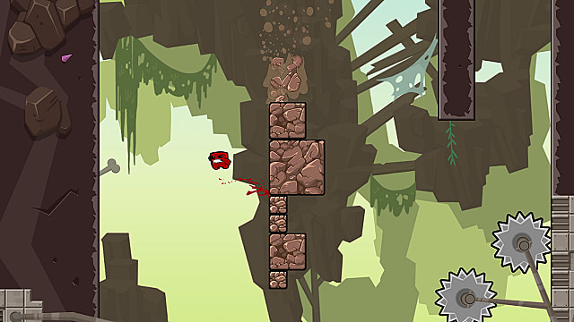 Super Meat Boy Forever wall jump