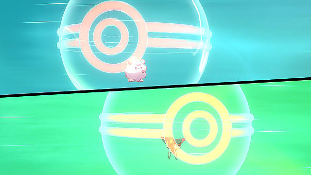 A surprise trade in Pokemon Sword and Shield.