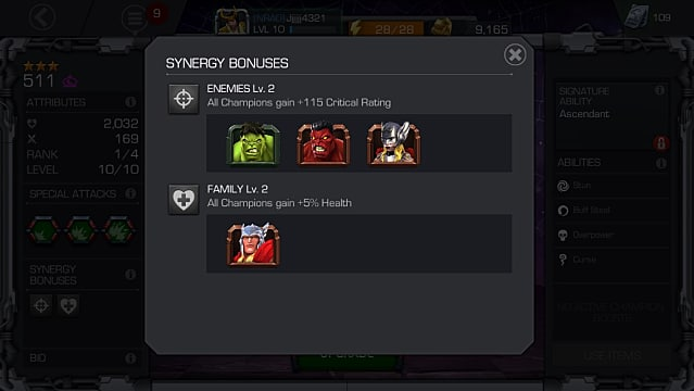 Contest of Champions Beginner's Guide Synergy Image