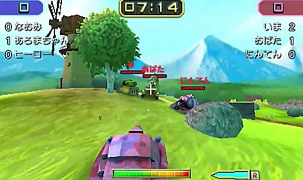 Tank Troopers gameplay with tanks shooting each other.
