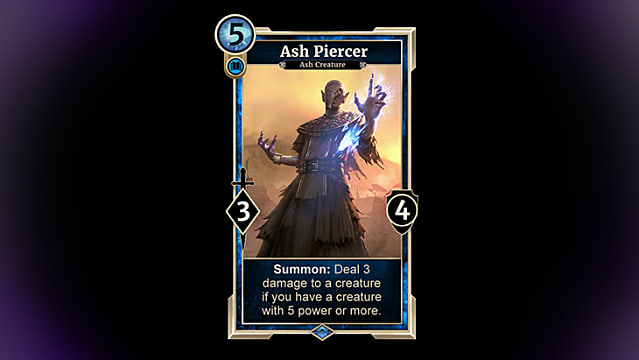 Ash Piercer card from TESL Houses of Morrowind