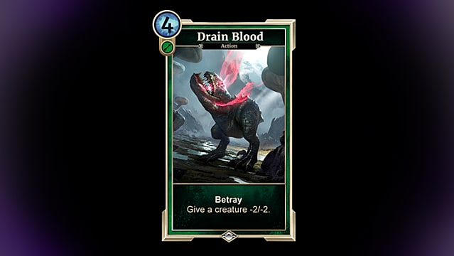 Drain Blood card from Houses of Morrowind expansion