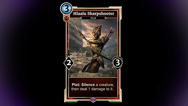Hlaalu Sharpshooter card from TESL: Houses of Morrowind