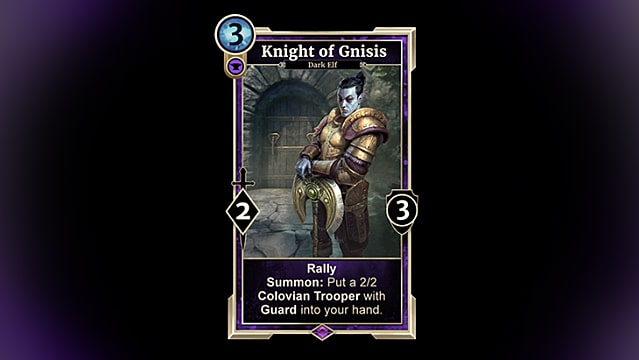 Knight of Gnisis from Elder Scrolls Legends Houses of Morrowind
