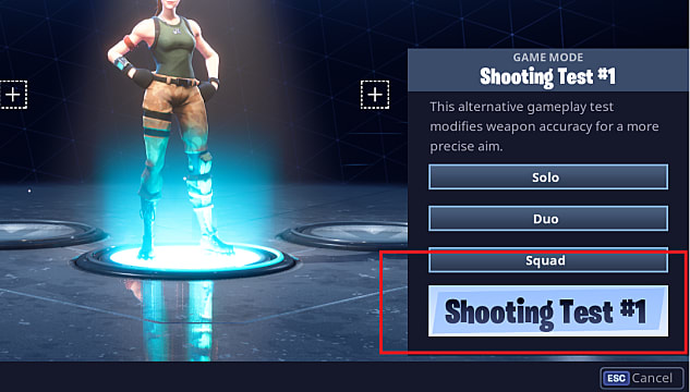 Fortnite shooting test mode allows you to find the perfect weapon for your style
