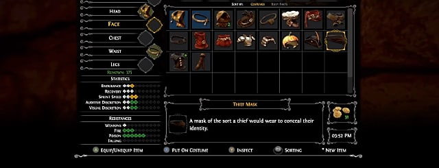 Stats screen in Ghost of a Tale