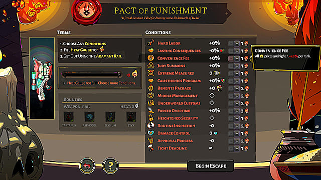 Pact of Punishment bounties screen.