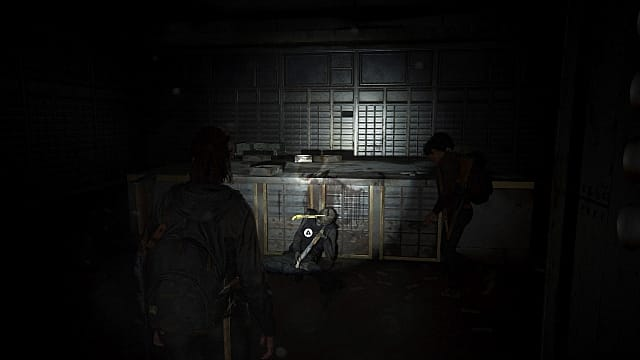 The pump shotgun will be propped against a corpse in the Westlake Bank vault.