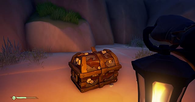 a treasure chest in Sea of Thieves