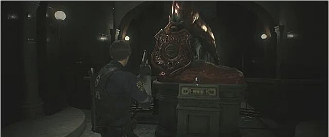 Leon getting the unicorn medallion.