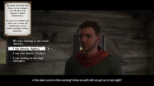 Making a character in Kingdom Come: Deliverance