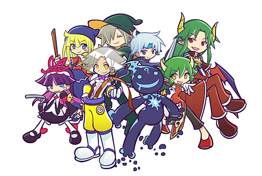 キャラクターが集合したぷよぷよの壁紙