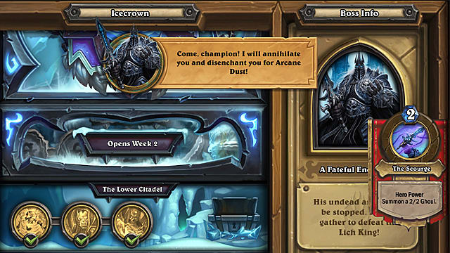 Hearthstone Frozen Throne Adventure Guide: Prologue and