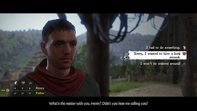 You'll make lots of dialogue-driven choices in Kingdom Come Deliverance