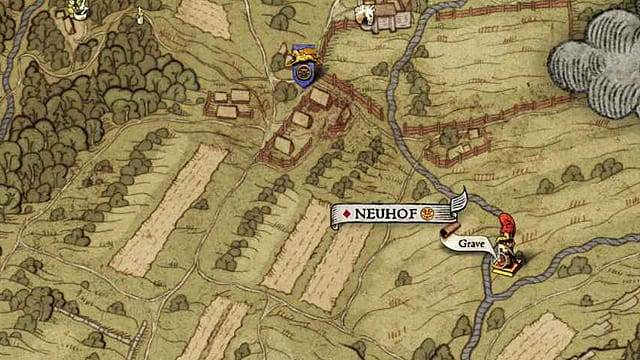 Head just inside Neuhof to get this Kingdom Come Deliverance treasure map