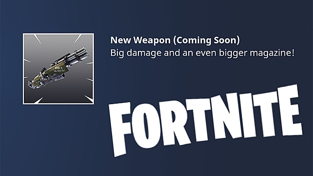 fortnite minigun update