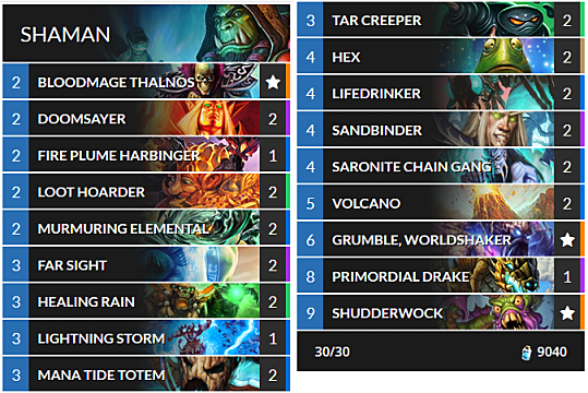 OTK Shaman build in Hearthstone The Witchwood